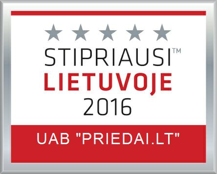 Priedai.lt stipriausi Lietuvoje 2016 m.
